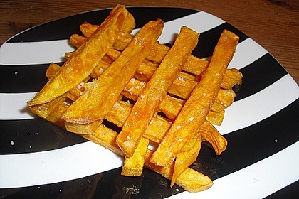 Knusprig frittierte Süßkartoffel-Pommes 9