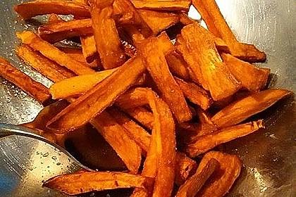 Knusprig frittierte Süßkartoffel-Pommes 6