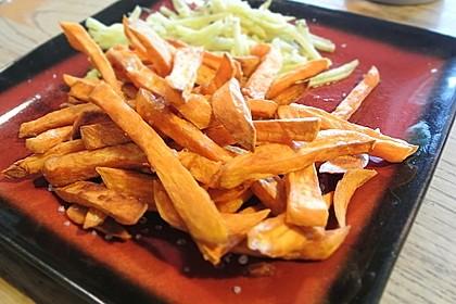 Knusprig frittierte Süßkartoffel-Pommes 16
