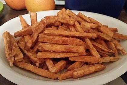 Knusprig frittierte Süßkartoffel-Pommes 14