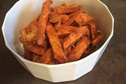 Knusprig frittierte Süßkartoffel-Pommes 11