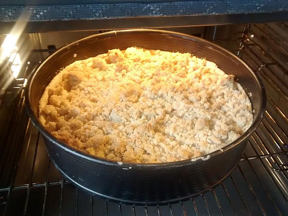 Amerikanischer Cinnamon Apple Crumble Pie von ...
