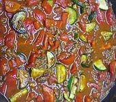 Mediterrane Gemüsepfanne mit Hackfleisch