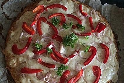Low-Carb Flammkuchen vegetarisch 5