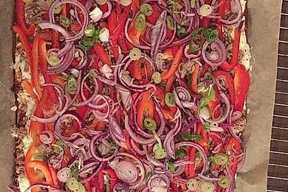 Low-Carb Flammkuchen vegetarisch 6