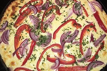 Low-Carb Flammkuchen vegetarisch 8