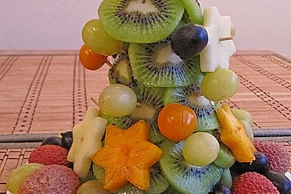 Obst-Weihnachtsbaum 3
