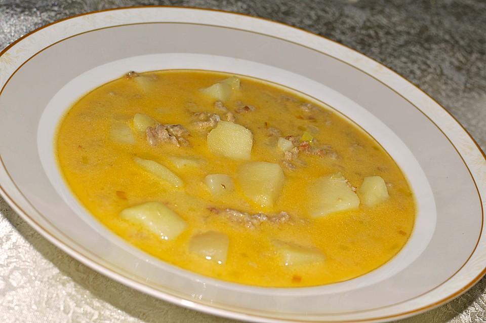Hackfleisch-Käse-Lauch-Suppe mit Kartoffeln von Verunzel | Chefkoch.de