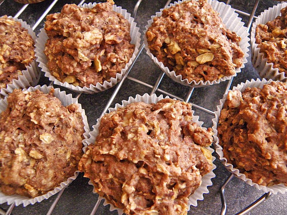 vegane apfel nuss muffins la m usle rezept mit bild. Black Bedroom Furniture Sets. Home Design Ideas