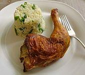 Curryreis mit Hähnchenkeulen (Bild)