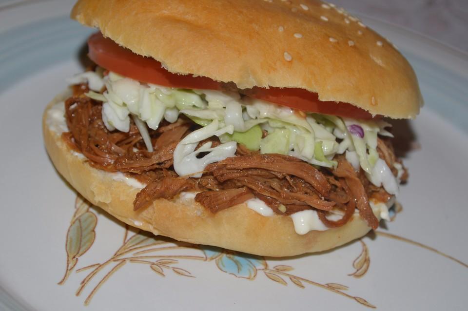 Pulled Pork Burger Gasgrill : Texas pulled pork eine einfache variante von downhillcat