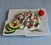 Gurken-Radieschen-Salat mit einem erfrischendem Jogurthdressing