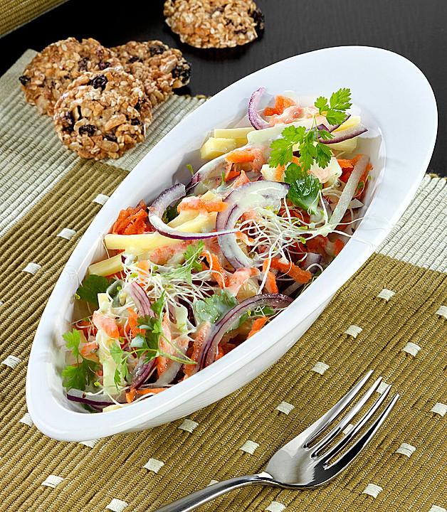 gem se k se salat mit k rbiscrackern rezept mit bild. Black Bedroom Furniture Sets. Home Design Ideas