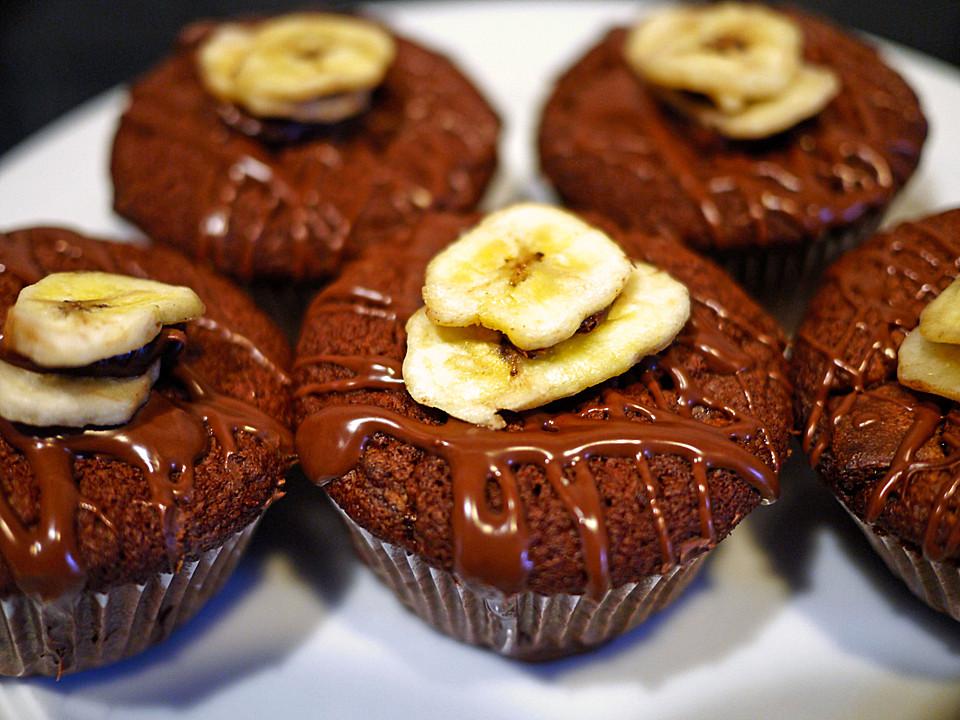 nutella bananen muffins rezept mit bild von pink princess. Black Bedroom Furniture Sets. Home Design Ideas