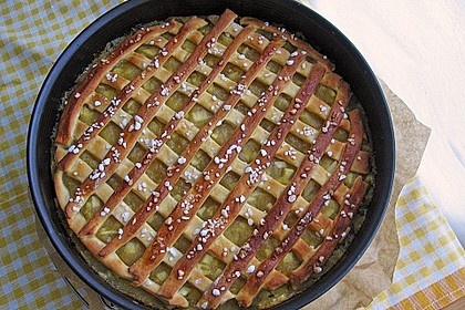 Apfelmus-Kuchen mit Hefeteig 2