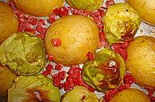Rosenkohl und Kartoffeln aus dem Backofen