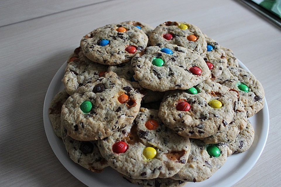 amerikanische m m 39 s toffee cookies rezept mit bild. Black Bedroom Furniture Sets. Home Design Ideas