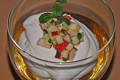 Apfelgelee mit Vanille-Mascarponecreme und Apfel-Tatar 1