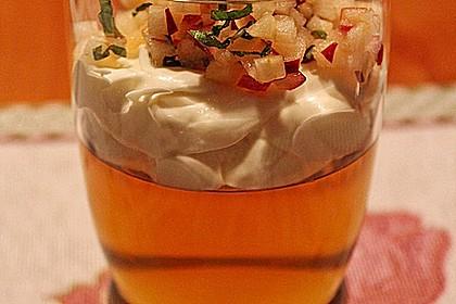 Apfelgelee mit Vanille-Mascarponecreme und Apfel-Tatar 3