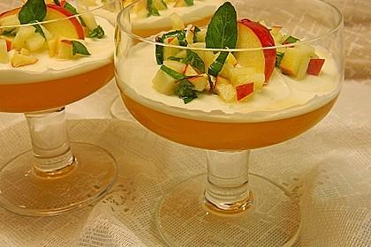 Apfelgelee mit Vanille-Mascarponecreme und Apfel-Tatar 4