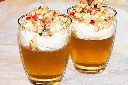 Apfelgelee mit Vanille-Mascarponecreme und Apfel-Tatar 6