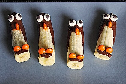 bananen pinguine rezept mit bild von moosmutzel311. Black Bedroom Furniture Sets. Home Design Ideas