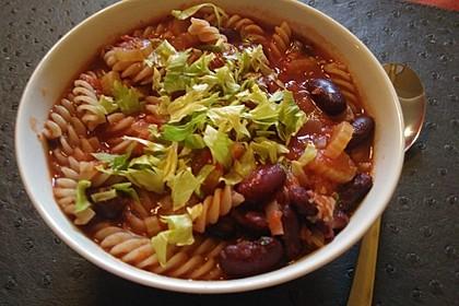 Bohnen-Pasta-Suppe