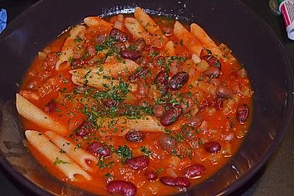 Bohnen-Pasta-Suppe 1