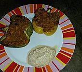 Gefüllte Paprika mit Currylinsen