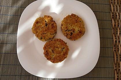 Haferbratlinge mit Apfelrotkohl und Kartoffelpüree 4