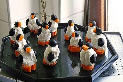 Oliven-Ziegenkäse-Pinguine 16