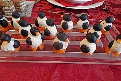 Oliven-Ziegenkäse-Pinguine 12