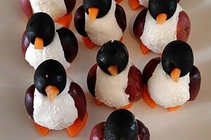 Oliven-Ziegenkäse-Pinguine 8