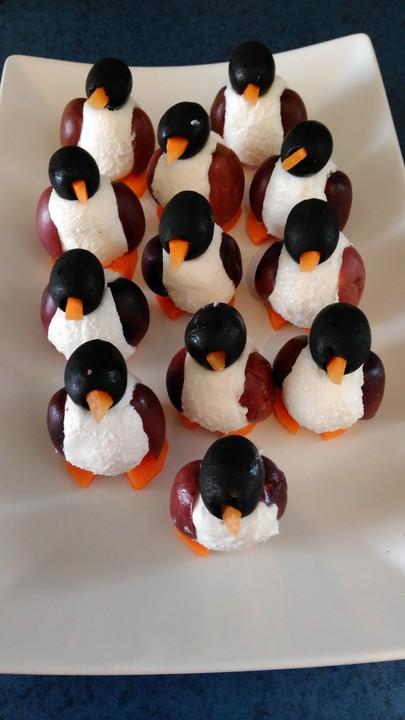 oliven ziegenk se pinguine rezept mit bild von midnightcooking. Black Bedroom Furniture Sets. Home Design Ideas
