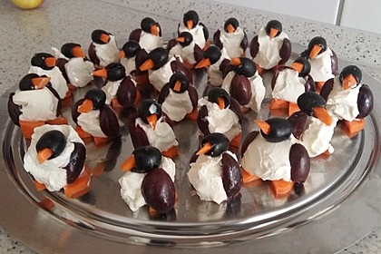 Oliven-Ziegenkäse-Pinguine 18