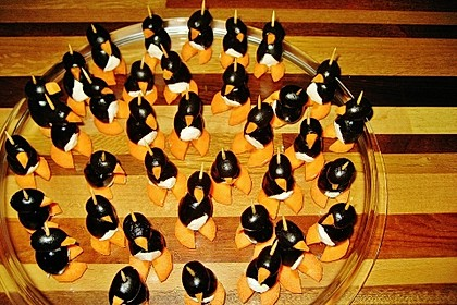 Oliven-Ziegenkäse-Pinguine 19