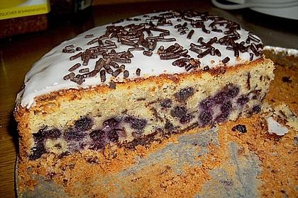 Heidelbeer - Marzipan - Kuchen