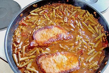 Kasseler mit Bohnen - Tomatensoße 3