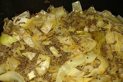 Weißkohl - Hackfleisch - Pfanne 10