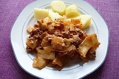 Weißkohl - Hackfleisch - Pfanne 5