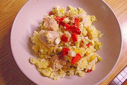 Limetten - Kokosmilch Hähnchen auf Basmatireis 2