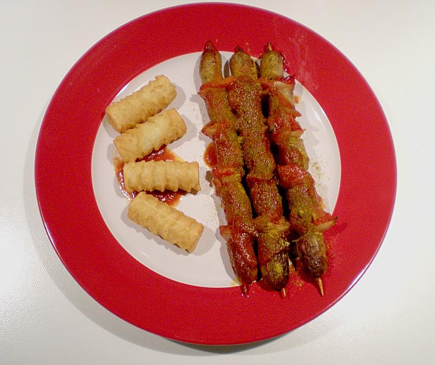 Currywurstspiesse Aus Dem Ofen Von Tiggerblue78 Chefkoch De