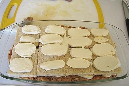 Brotauflauf mit Hackfleisch und Mozzarella 2