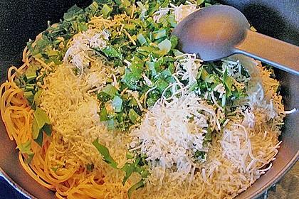 Bärlauch - Spaghetti mit Champignons 24
