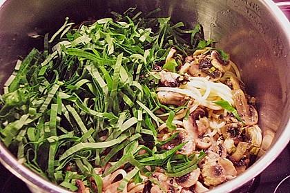 Bärlauch - Spaghetti mit Champignons 23