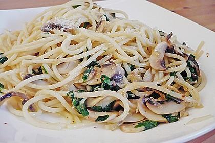 Bärlauch - Spaghetti mit Champignons 6