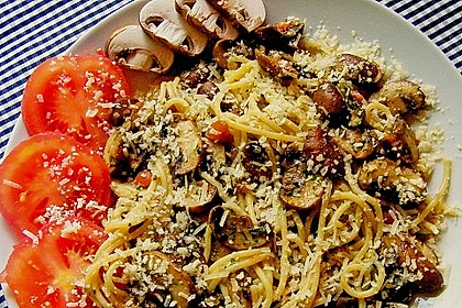Bärlauch - Spaghetti mit Champignons 25
