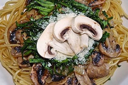 Bärlauch - Spaghetti mit Champignons 4