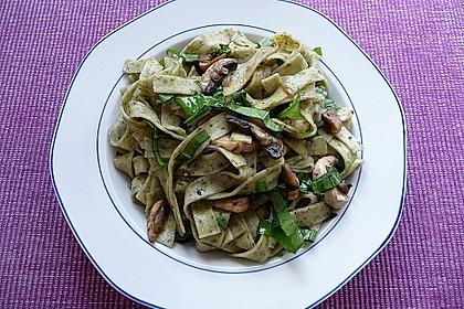 Bärlauch - Spaghetti mit Champignons 7