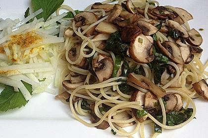 Bärlauch - Spaghetti mit Champignons 8